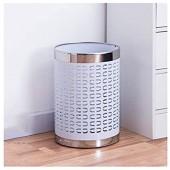 """Yyqx Conteneur à déchets Round Wastebasket bac de Recyclage créatif Mesh Poubelle Wastebasket Bureau Salon Blanc Poubelle  2 3 Gallons  7 9"""" Diamètre Top X 11 4"""" H Poubelles"""