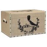 L'ORIGINALE DECO Malle Boîte en Bois Coffre Coffret de Rangement 50x32x31 cm