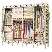 NXYJD Armoire Armoire Dressing Chambre Placard de Rangement Chambre Meubles penderie Textiles Non-tissés Pliable