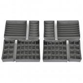 HSR Lot de 8 boîtes de rangement pliables pour sous-vêtements et chaussettes