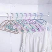 QAQ Cintre Cintres en Plastique épais Larges cintres Coupe-Vent étendoir vêtements Suspendus étendus Costume Cadre mètres  Simple - Violet Clair_10 Seulement