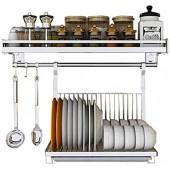 LSZ Tablettes murales de Cuisine Crochets for Ustensiles de Cuisine Organiser des MULTIUSAGE comme Spice Rack ou Rack de vidange étagères murales for KitchenStorage Organiseurs et Porte-ustensiles