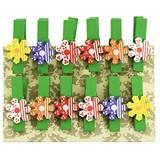 Oblique-Unique® Lot de Mini Pinces à Linge en Bois décoratives avec motif au choix  Blumen 2